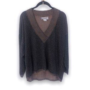Diane Von Furstenberg Brown Vintage Knit Sweater